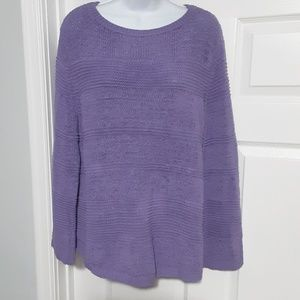 Style & Co Purple Knit Sweater